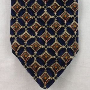 "Robert Talbott Navy Multi-Color Silk Tie 60"" x 4"""